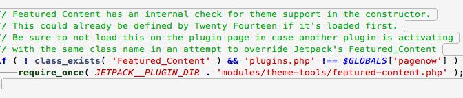 """L'extension JetPack pas très """"classe"""" avec la classe Featured_Content du thème TwentyFourteen"""