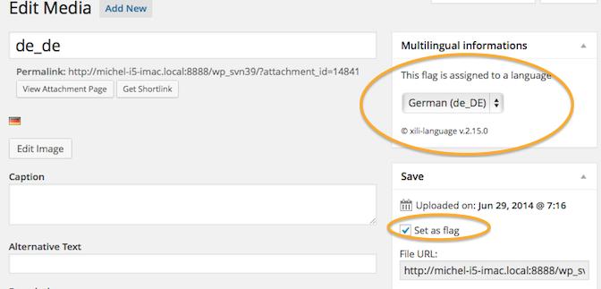 xili-language V. 2.15: Der einfachste Weg Fahnen zur Sprachwahl zu verwalten!