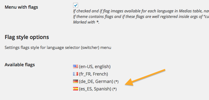xili-language v. 2.15.1: flag features improved for theme's developer
